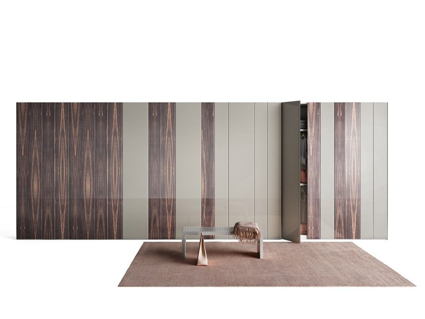 Sectional wardrobe N.O.W. XGLASS by Lago