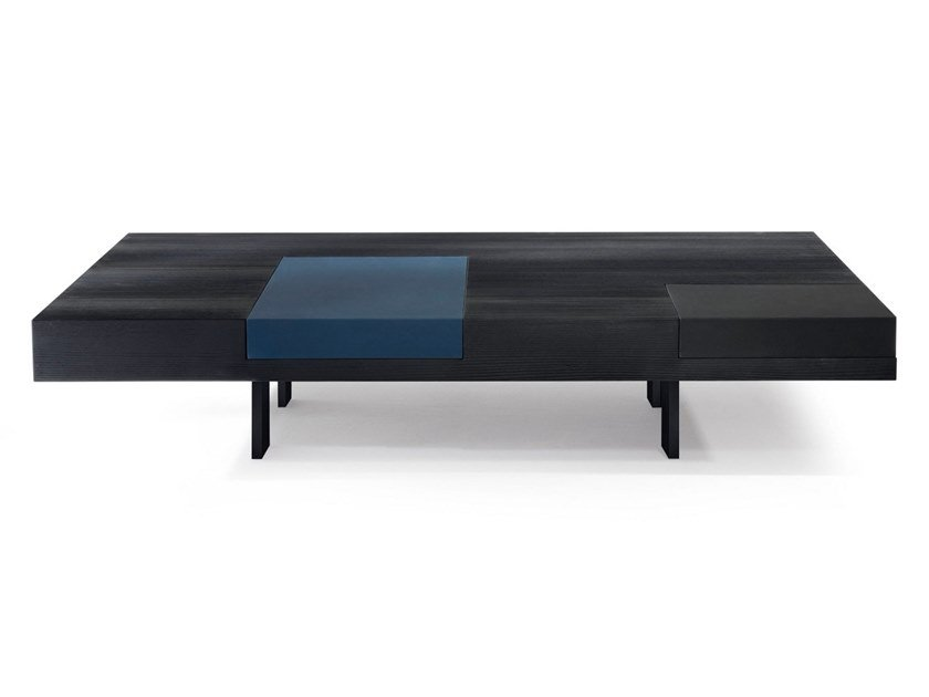 Low rectangular larch coffee table N.Y. | Rectangular coffee table by ALBEDO