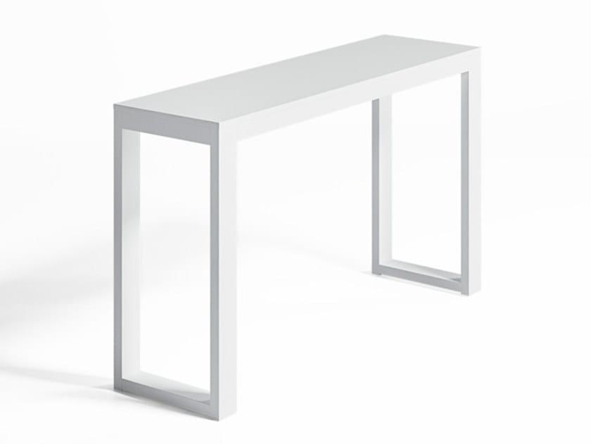 Rectangular aluminium high table NA XEMENA | Contract table by GANDIABLASCO