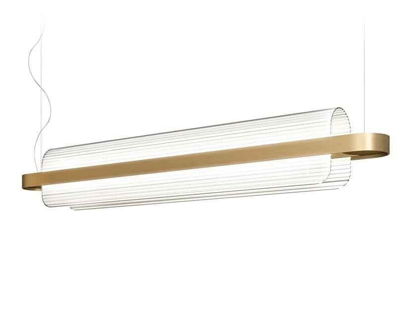 Lampada a sospensione a LED in vetro NAMI by KUNDALINI