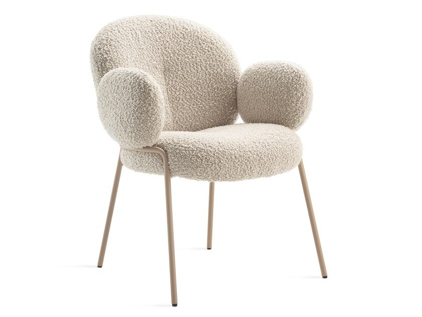 Upholstered fabric chair with armrests NANA   Chair with armrests by Freifrau