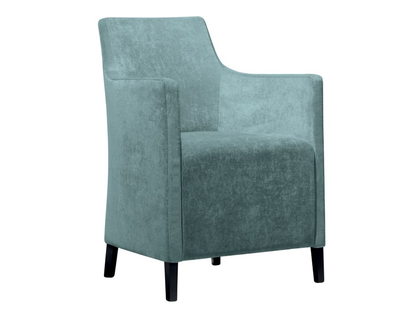 Upholstered fabric easy chair with armrests NANCY PO02 by New Life