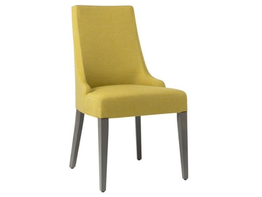 Upholstered fabric chair with wooden base NANCY SE01 BASE 10 by New Life