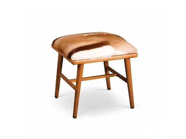Low upholstered leather stool NANO | Stool by Mambo Unlimited Ideas