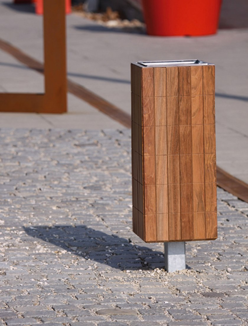 NANUK   Portarifiuti in legno