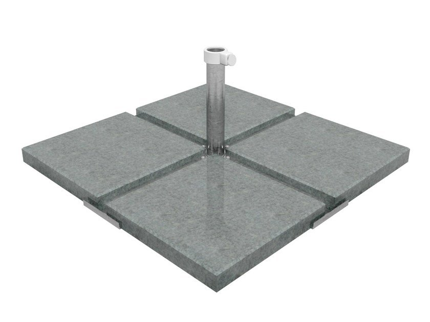 Galvanized steel Parasol base NAPLES 4 by Caravita