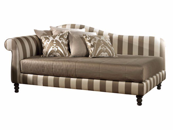 Upholstered fabric day bed NAPOLEONE by SOFTHOUSE
