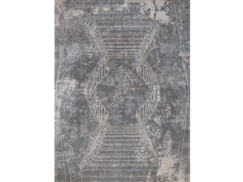 Handmade rectangular rug NAPOLI FUMO by Tapis Rouge