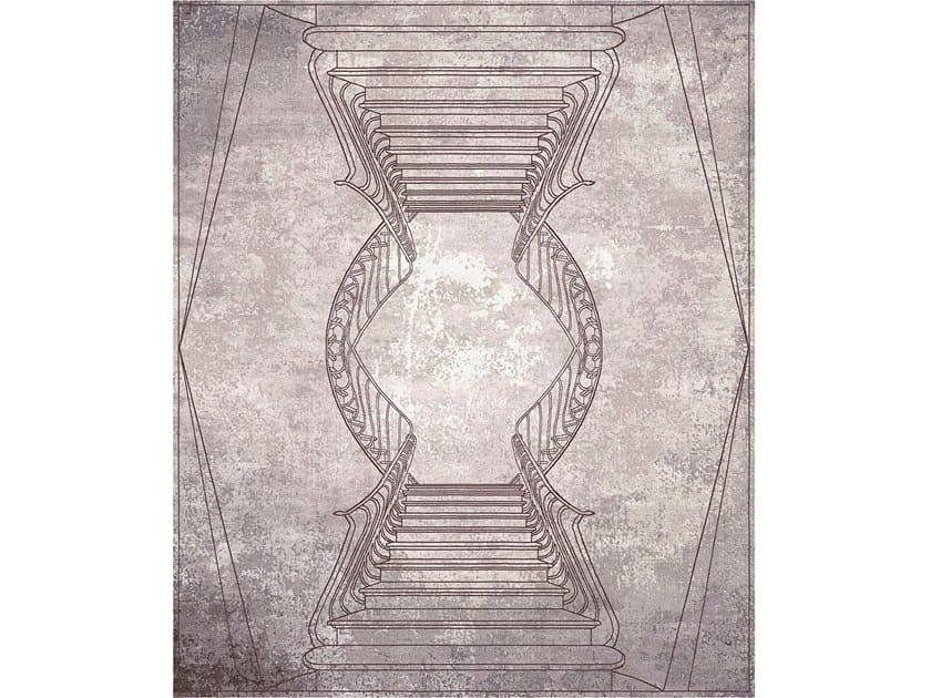 Handmade rectangular rug NAPOLI ROSA POLVERE by Tapis Rouge