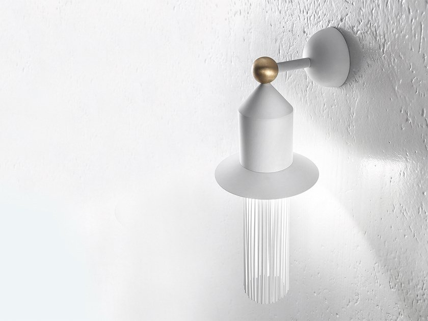 LED painted metal wall lamp NAPPE APP N2 by Masiero