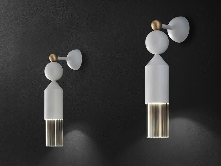 LED painted metal wall lamp NAPPE APP N4 by Masiero