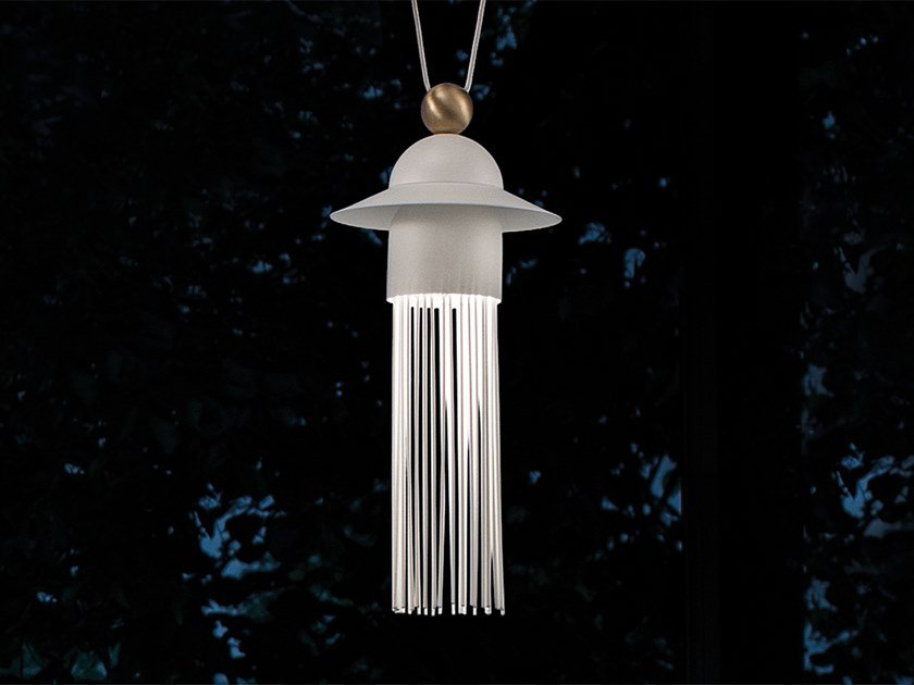 LED painted metal pendant lamp NAPPE N1 by Masiero