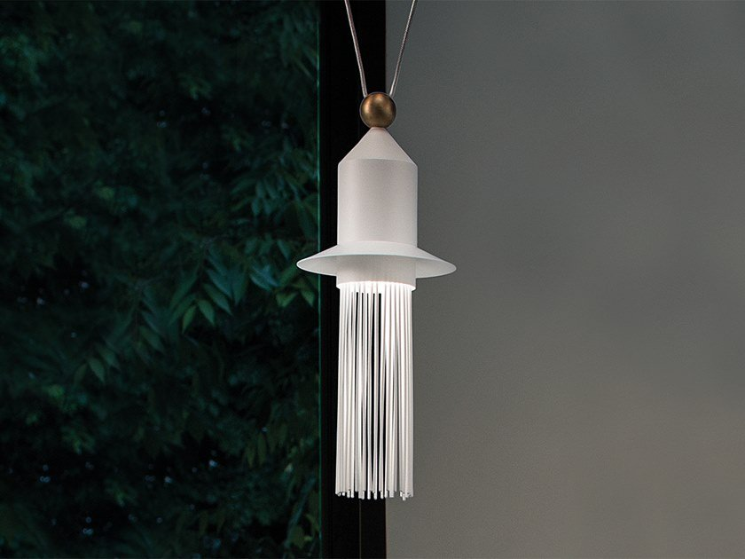 LED painted metal pendant lamp NAPPE N2 by Masiero