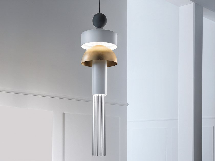 LED painted metal pendant lamp NAPPE XL1 by Masiero