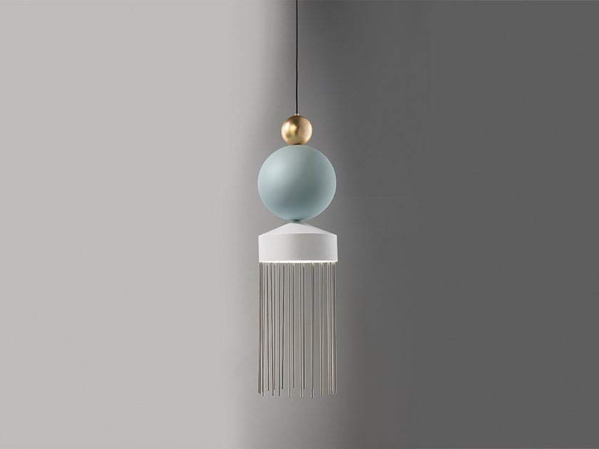 LED painted metal pendant lamp NAPPE XL3 by Masiero