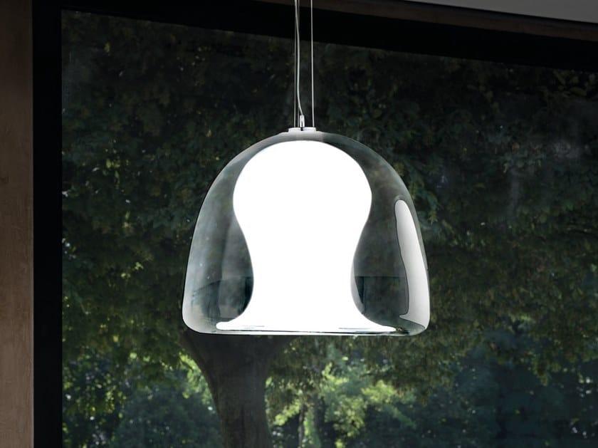Blown glass pendant lamp NARANZA SP by Vetreria Vistosi