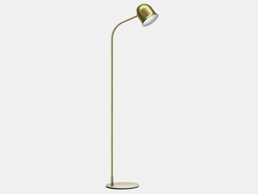 Adjustable metal floor lamp NARCISO G4 by Il Fanale