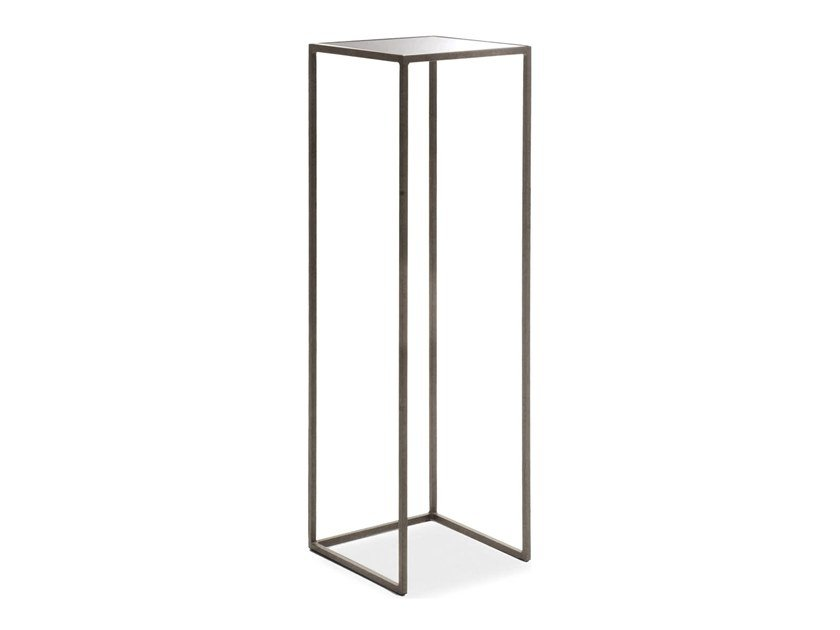 Square mirrored glass high side table NARCISO | High side table by Cantori