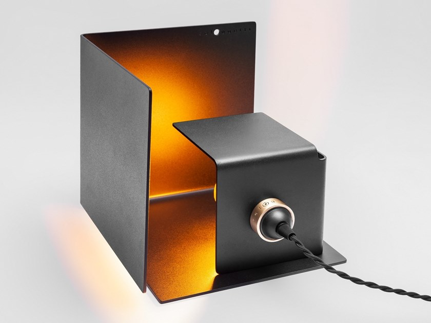 LED adjustable aluminium table lamp NASCONDINO - MATERIC BLACK by Sologgetti