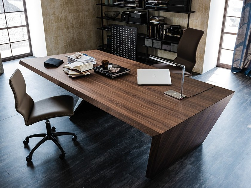 Wooden writing desk with drawers NASDAQ by Cattelan Italia