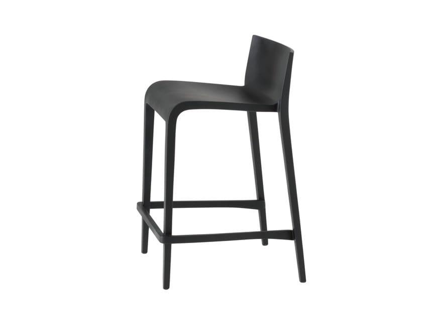 Polypropylene stool with back NASSAU 537B by Metalmobil