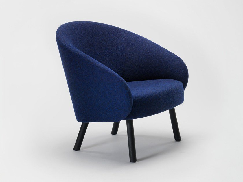 Fabric armchair with armrests NASU XL by Zilio A&C