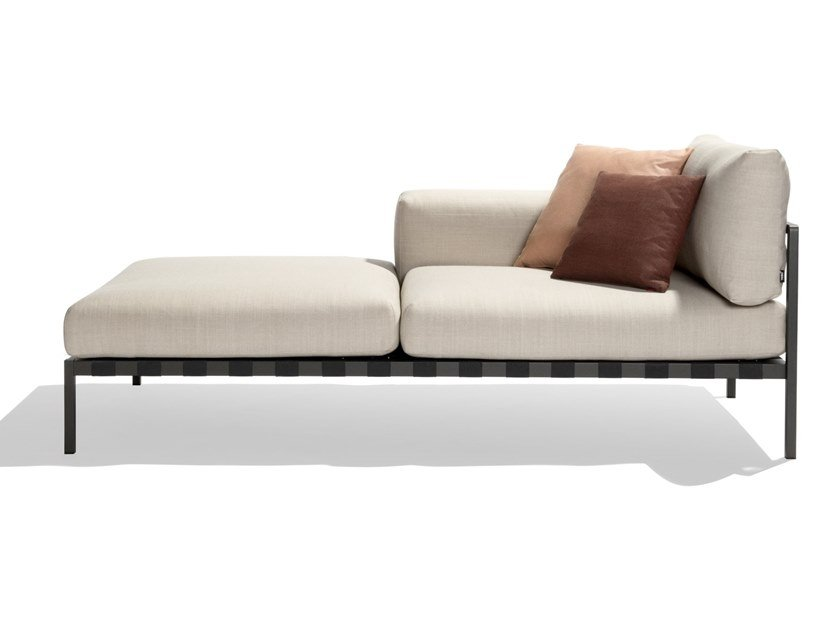 Upholstered fabric Garden daybed NATAL ALU SOFA | Garden daybed by TRIBÙ