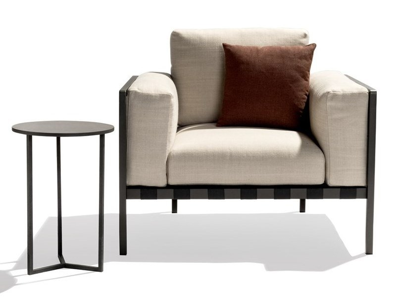 Upholstered armchair with armrests NATAL ALU SOFA   Armchair by TRIBÙ