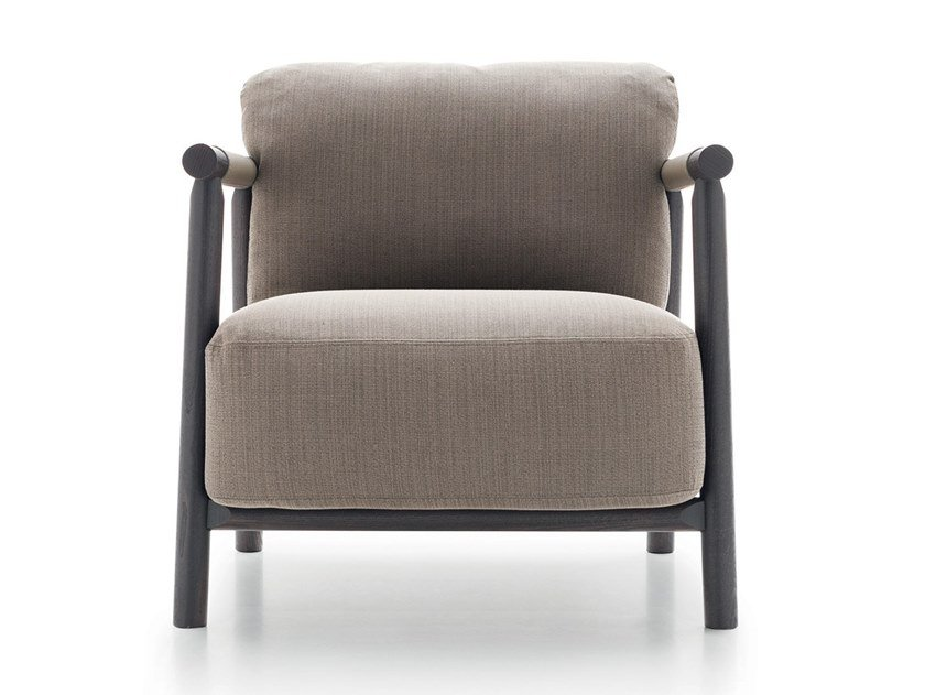 Upholstered fabric easy chair with armrests NATHY by Ditre Italia