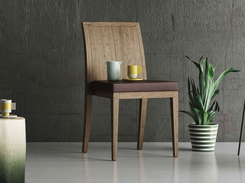 Stackable oak restaurant chair NATIONAL by Imperial Line