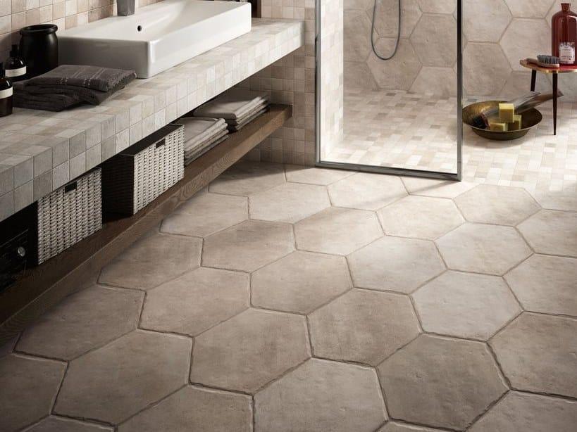 Pavimento/rivestimento in gres porcellanato effetto pietra NATIVE IVORY by CERAMICA SANT'AGOSTINO