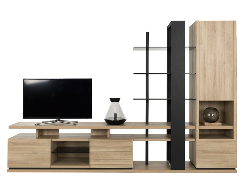 TV wall system NATURA LAYOUT 1 by GAUTIER FRANCE