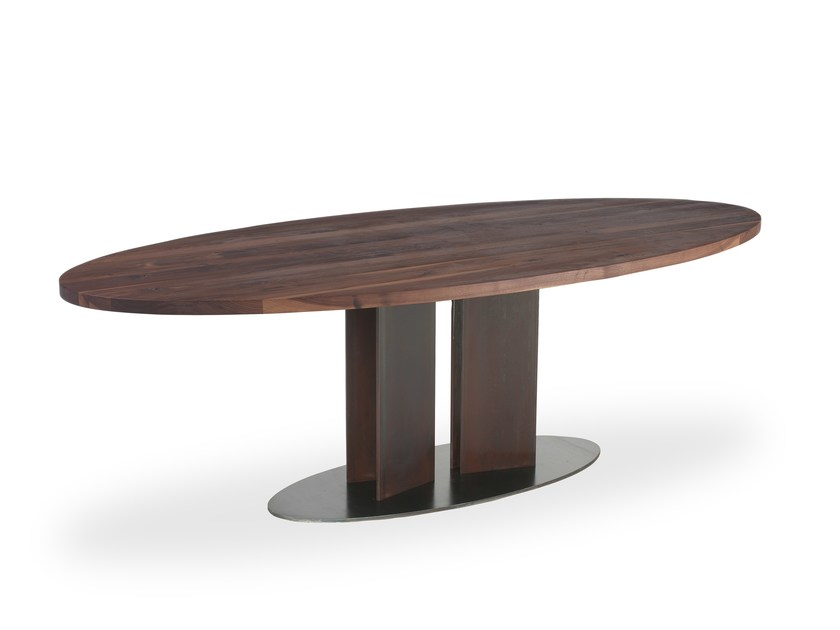 Solid wood table NATURA TONDO & OVALE by Riva 1920