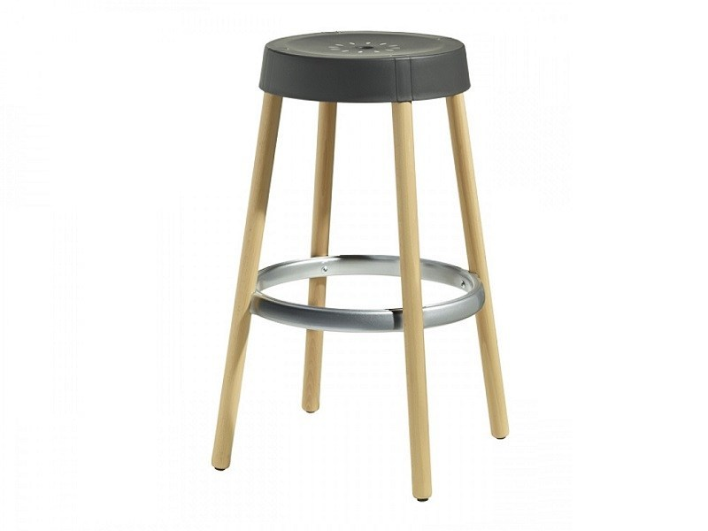 Technopolymer stool with footrest NATURAL GIM | Technopolymer stool by SCAB DESIGN