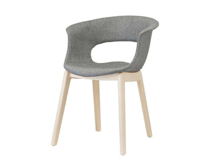 Fabric chair with armrests NATURAL MISS B POP by SCAB DESIGN