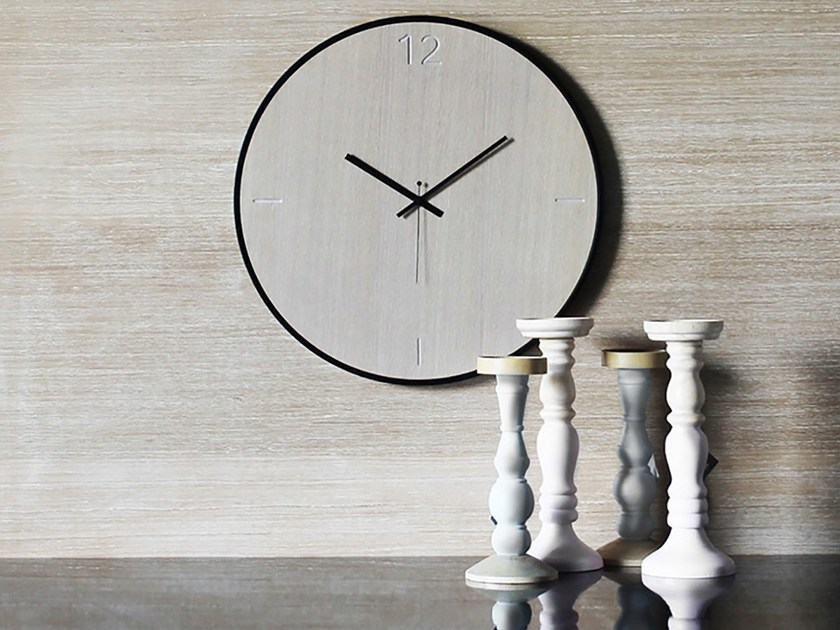 Wall-mounted wooden clock NATURAL OAK by xline