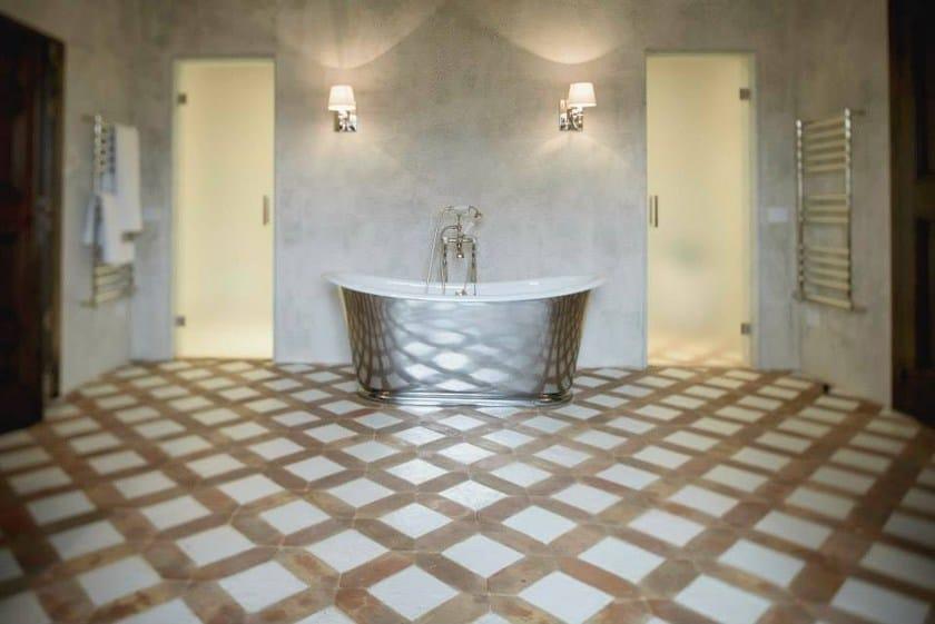 Revestimiento de pared suelo de barro cocido para interiores y exteriores natural terracotta by Suelo de barro cocido