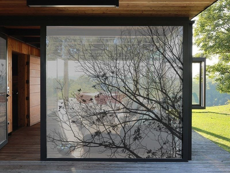 Self-adhesive transparent fabric for covering windows NATURE by ACTE-DECO
