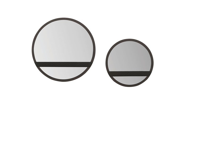 Round framed wall-mounted mirror NAVONA | Mirror by Enza Home
