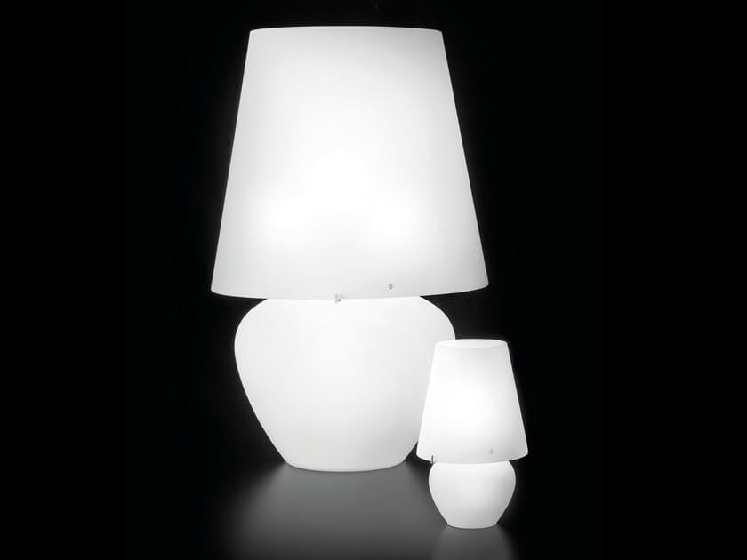 Satin glass table lamp NAXOS LT by Vetreria Vistosi