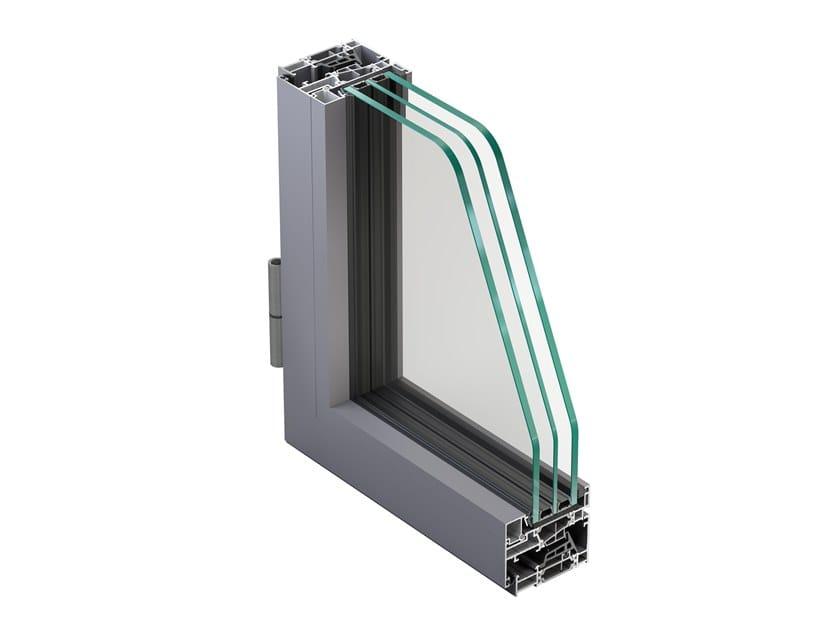 Finestra a battente in alluminio con triplo vetro NC 65 STH HES SLIM by METRA