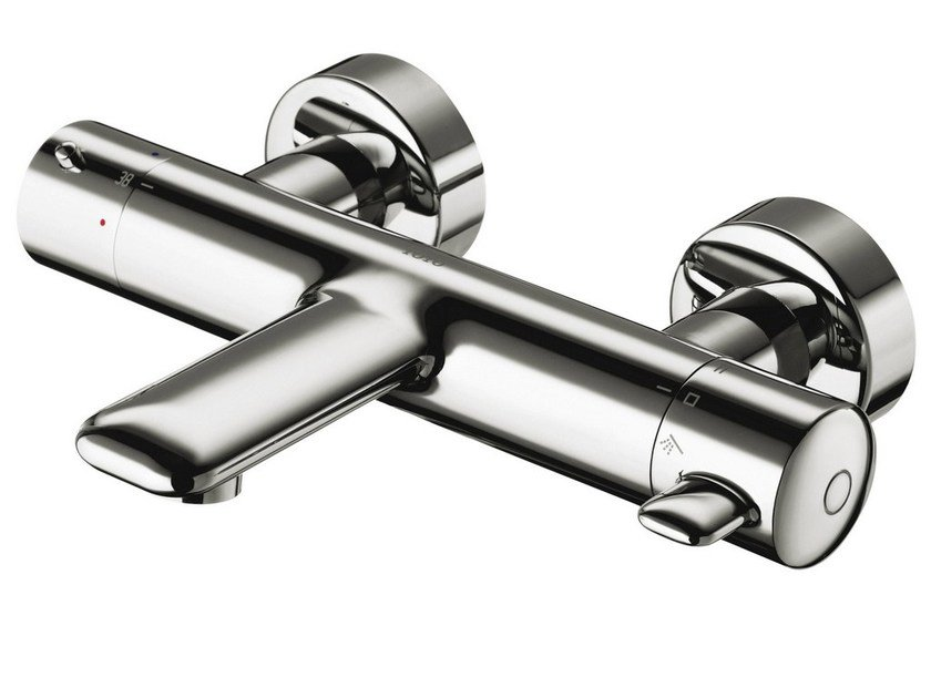 Wall-mounted bathtub mixer with diverter NC   Wall-mounted bathtub mixer by TOTO