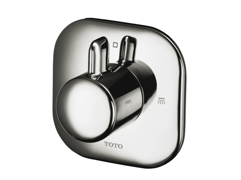 On-off valve, concealed, two-way NC   Chromed brass shower tap by TOTO
