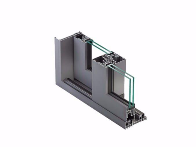 Porta-finestra in alluminio con doppio vetro NC-S 150 STH HES by METRA