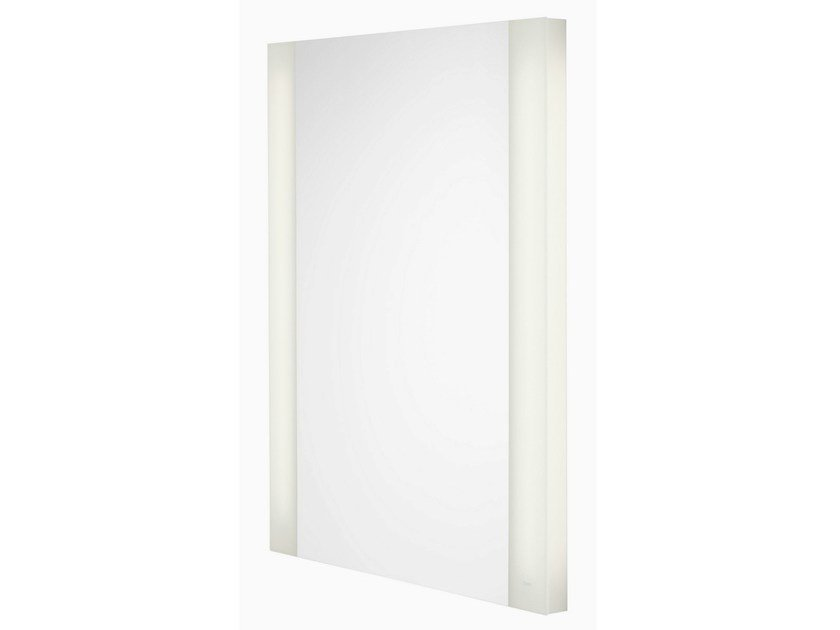 Wall-mounted bathroom mirror with integrated lighting NC   Bathroom mirror by TOTO