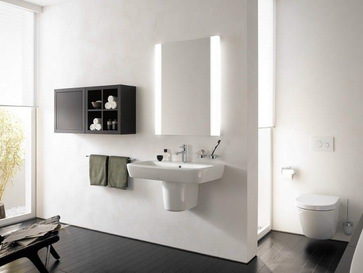 Specchio a parete con illuminazione integrata per bagno nc