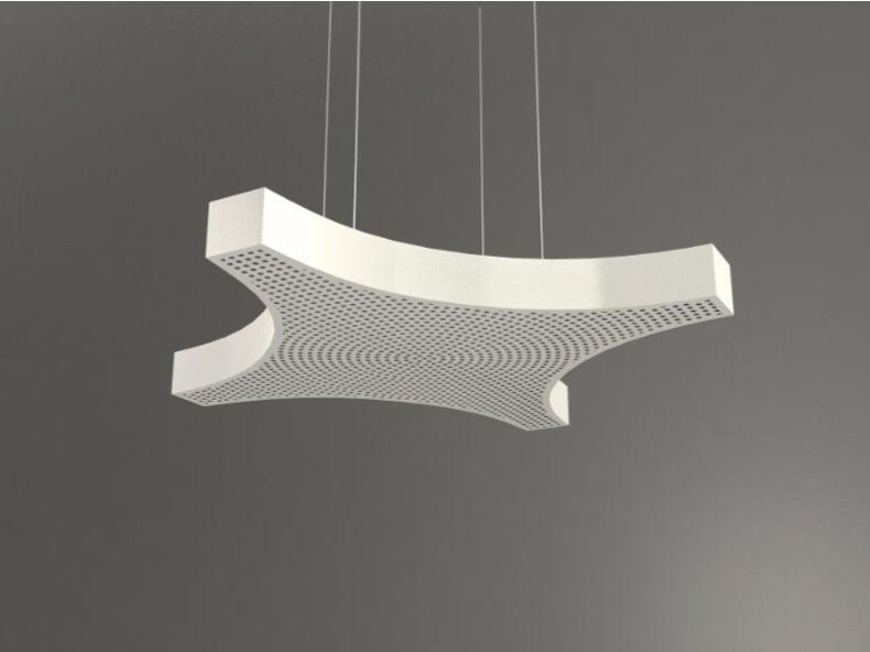Hanging acoustic panel / pendant lamp NCA LINK4 D1000-1500-2000B | Pendant lamp by Neonny