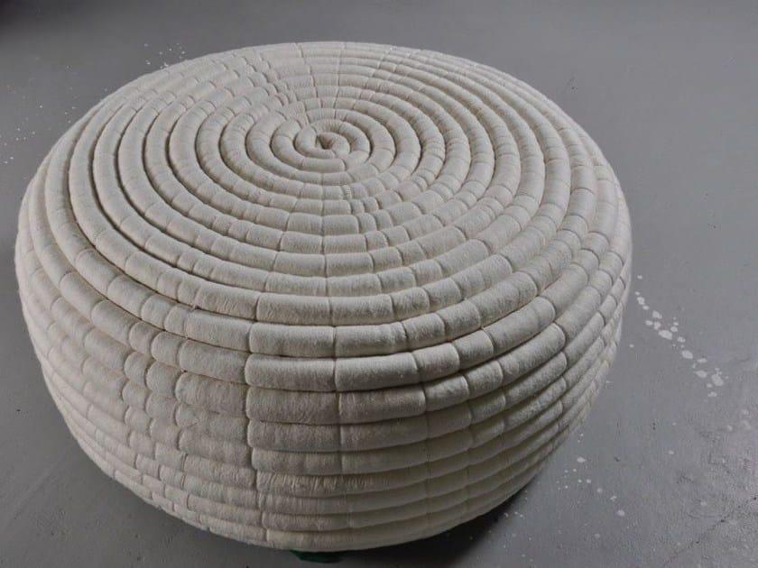 Wool felt pouf NDEBELE | Wool felt pouf by Ronel Jordaan™
