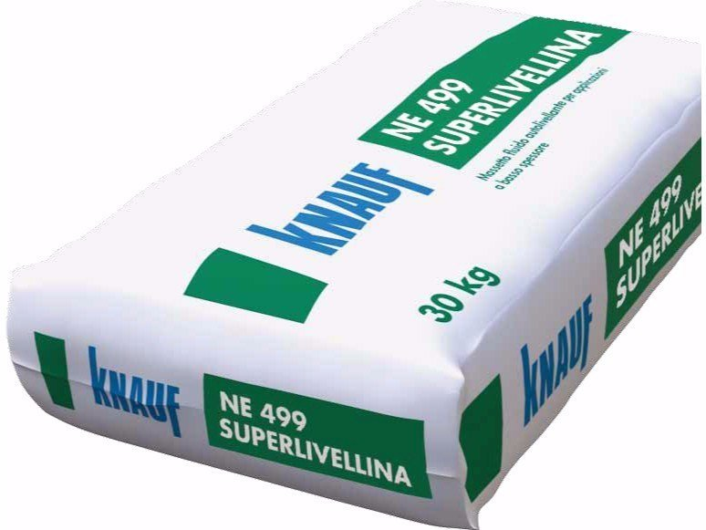 Screed and base layer for flooring NE 499 Superlivellina by Knauf Italia