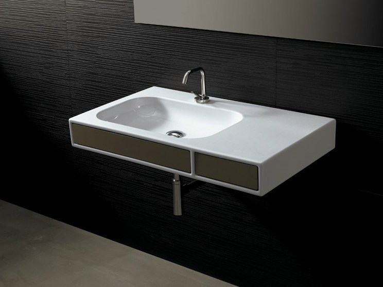 Rectangular ceramic washbasin with drawers NEAT QUADRO | Washbasin by Alice Ceramica